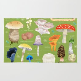 Mushroom Species Rug