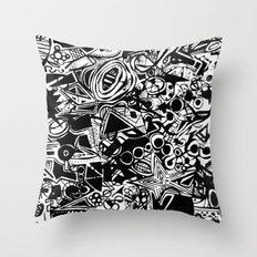 Black/White #1 Throw Pillow