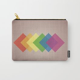 Pride Squared - LGBTQ Rainbow Pride Flag Abstract Art Piece Carry-All Pouch