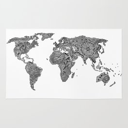 Woven rugs society6 lords prayer zentangle world map rug gumiabroncs Images