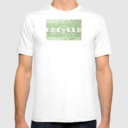 Recycle watercolor mosaic T-shirt