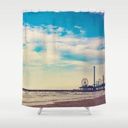 the Pleasure Pier Shower Curtain