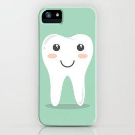 Big White Happy Tooth iPhone Case