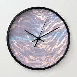 Tiger Striped Cloudy Sky Wall Clock