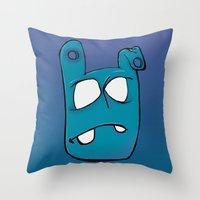 no face Throw Pillows featuring Face by Chris Napolitano