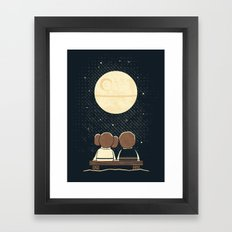 Moon Gazing Framed Art Print