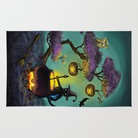 halloween Area & Throw Rugs featuring Halloween by Anna Shell