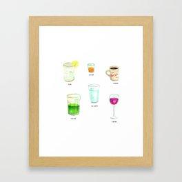 Daily Liquid Consumption Framed Art Print