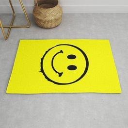 smiley face rave music logo Rug