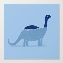 bathing dino Canvas Print