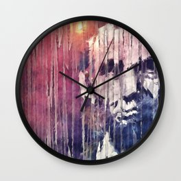 President Abraham Lincoln Abstract Wall Clock