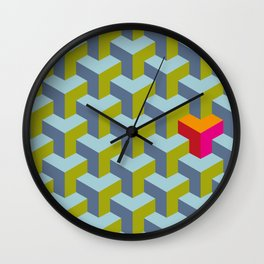 Be yourself - geomtric op art pattern Wall Clock