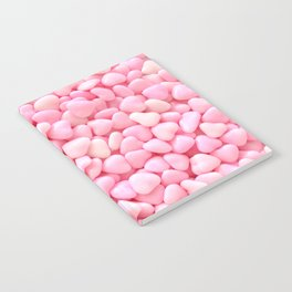 Pink Candy Hearts Notebook