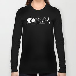 Cosplay (white text) Long Sleeve T-shirt
