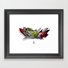 3D GRAFFITI - HIP-HOP Framed Art Print