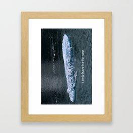 I Love You Sweetheart Humorous Greeting Card Framed Art Print