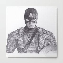 Captain comic America Metal Print