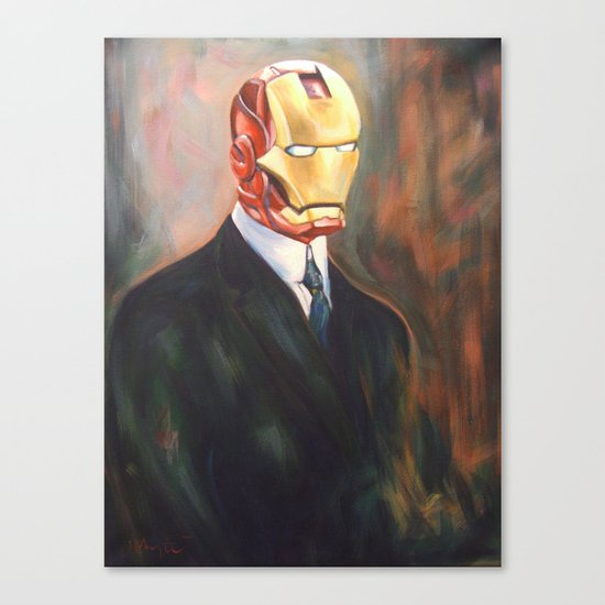 Iron Monsieur Canvas Print