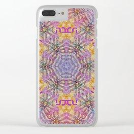 Mandala of love Clear iPhone Case