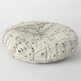 I Love Piano Music Floor Pillow