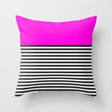 STRIPE COLORBLOCK {PINK} Throw Pillow