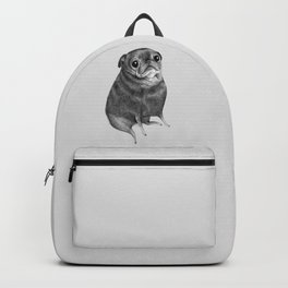 Sweet Black Pug Backpack