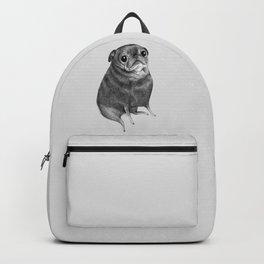 Sweet Black Pug Backpack