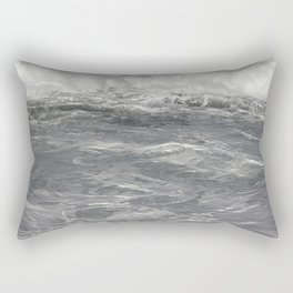 Roiling in Almost Black and White Rectangular Pillow