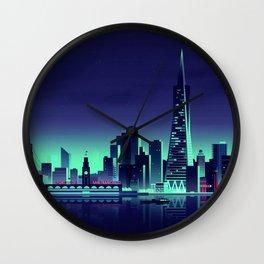 San Francisco minimal nightscapes artwork USA America creative abstract cityscapes Wall Clock