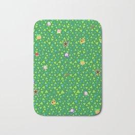 animal crossing cute grass pattern Bath Mat