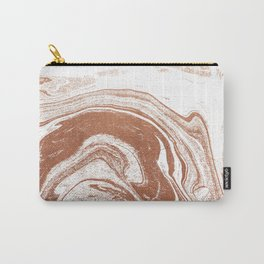 Marble copper metallic suminagashi spilled ink japanese marbling abstract ocean swirl Carry-All Pouch