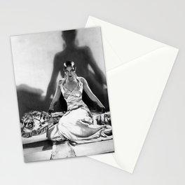 Fierce Josephine Baker Folies Bergère, Paris African American black & white photograph on Tiger Rug Stationery Cards