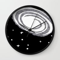 cosmic Wall Clocks featuring cosmic  by smurfmonster