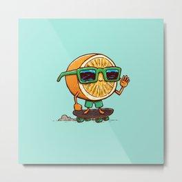 The Orange Skater Metal Print