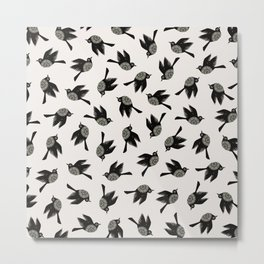Blackbirds Flying Metal Print