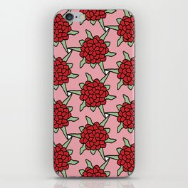 Red Flowers Pattern iPhone Skin
