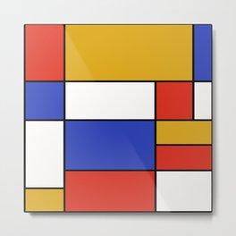 Abstract #401 Mondriaan #8 Metal Print