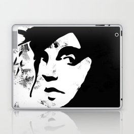The rebel girl in black and marble Laptop & iPad Skin