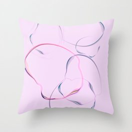 Thinking bubbles no.1 Throw Pillow