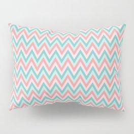 Pink & Blue Chevrons Pillow Sham