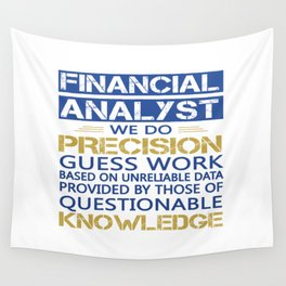 FINANCIAL ANALYST Wall Tapestry
