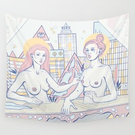 Girls in the City Wall Tapestry