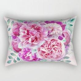 Beautiful soft pink peonies Rectangular Pillow