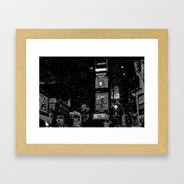 Times Square at Night in '98 Framed Art Print