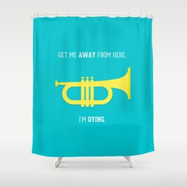 Get Me Away Shower Curtain