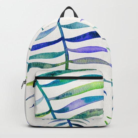 Indigo Palm Leaf Backpack