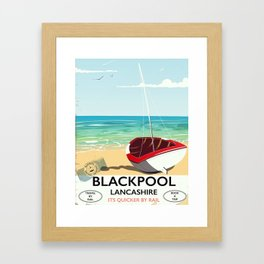 Blackpool, Lancashire, Rail poster Framed Art Print