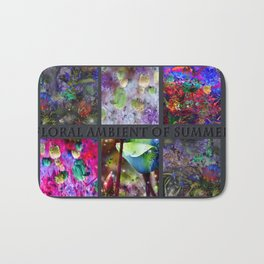 FLORAL AMBIENT of SUMMER Bath Mat