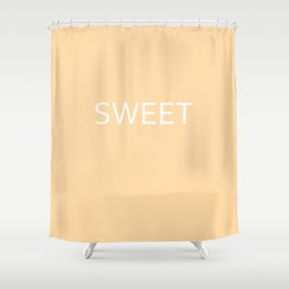 Sweet apricot gelato Shower Curtain