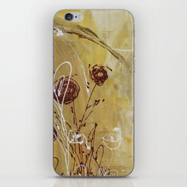 Yellow Tan Spring Abstract Flowers. Jodilynpaintings. Abstract Floral iPhone Skin
